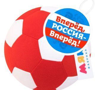 Мякиши Футбольный мяч крас-бел