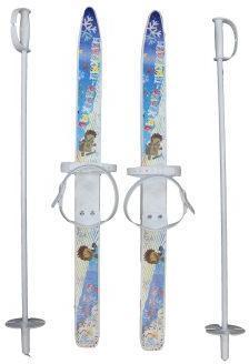 Лыжи детские Лыжики пыжики с палками 75 см