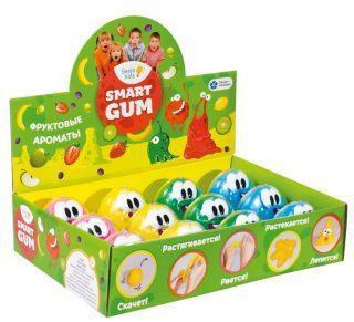 Пластилин для детской лепки SMART GUM ароматный цвет в асс-те