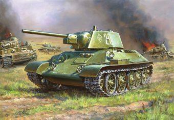 Модель Советский средний танк Т-34 (без клея)