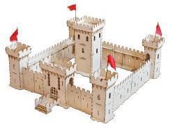 Сборная деревянная модель Крепость средневековая