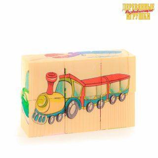 Кубики Транспорт, 6 куб.