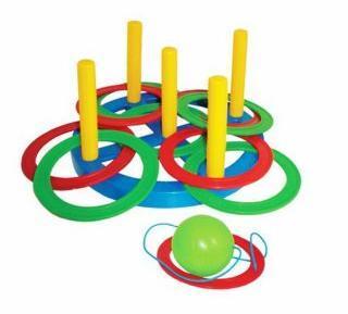 Набрось кольцо+поймай шарик 2 в 1