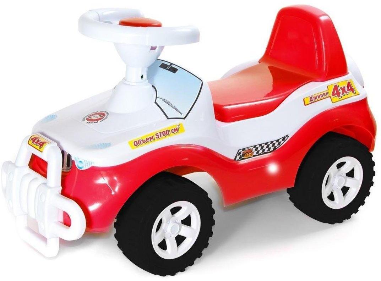Машина-каталка Джипик красно-белая