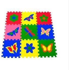 Мягкий пол универсальный Бабочки 9 дет (1 дет - 33*33 см), в асс-те