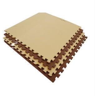 Мягкий пол универсальный бежево-коричневый с кромками 4 дет (1 дет - 60*60 см)