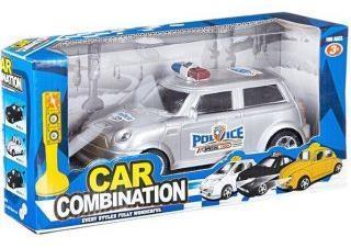 Машина Полиция на бат., светофор, свет, звук, BOX 18*8*7см