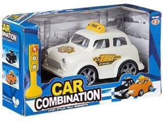 Машина Такси на бат., светофор, свет, звук, BOX 14*8*7см