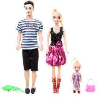 Семья из трех кукол 30см