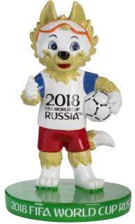 "Фигурка из полистоуна FIFA 2018 Забивака ""Класс!"" 6см"