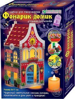 Набор для изг-ния фонарика-домика Страна тюльпанов