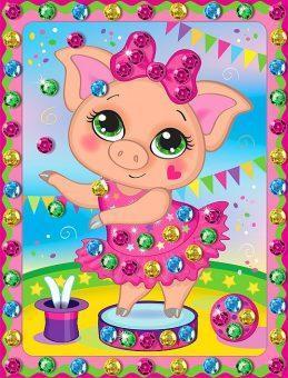 Набор для тв-ва с пайетками Свинка в цирке