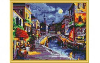 Алмазная мозаика Ночная Венеция, 40х50 см