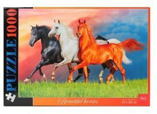 Пазлы 1000 А2ф 680х450мм Красивые лошади