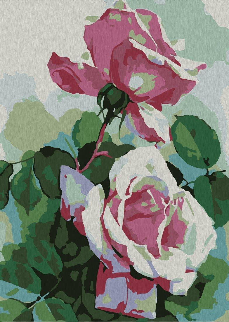 Роспись по холсту Розы, А4
