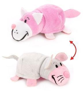 Мягкая игрушка Вывернушка 2в1 Розовый кот-Мышь 12 см