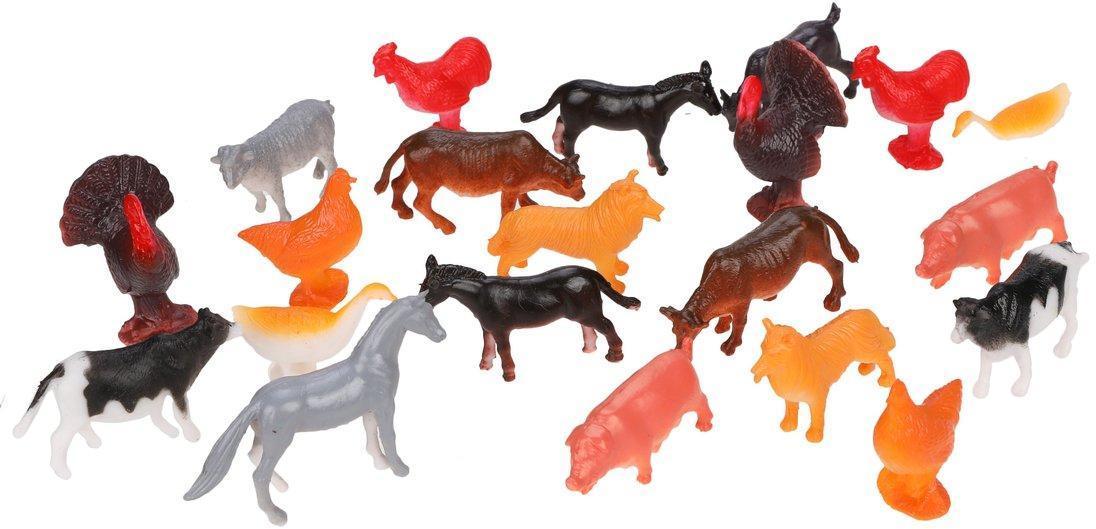 Набор домашних животных, 24шт, пакет.