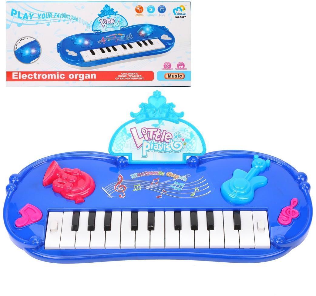 Пианино детское 22 клавиши, свет, звук, в ассорт., бат.в компл.не вх., кор.