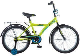 """Велосипед NOVATRACK 20"""" YT FOREST, зелёный, тормоз нож., крылья, багажник черные."""
