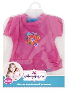 Одежда для куклы 38-43см, Туника и легинсы Цветочек