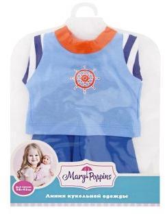Одежда для куклы 38-43см, кофточка, брючки Море