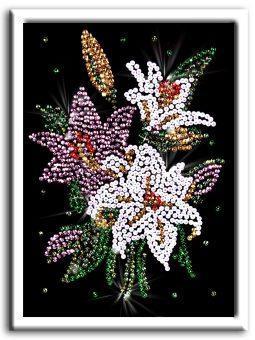 Мозаика из пайеток Лилии