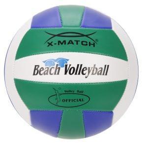 Мяч волейбольный X-Match зелен-син-белый, 2 слоя ПВХ, диам 8,5 дюймов, резиновая камера