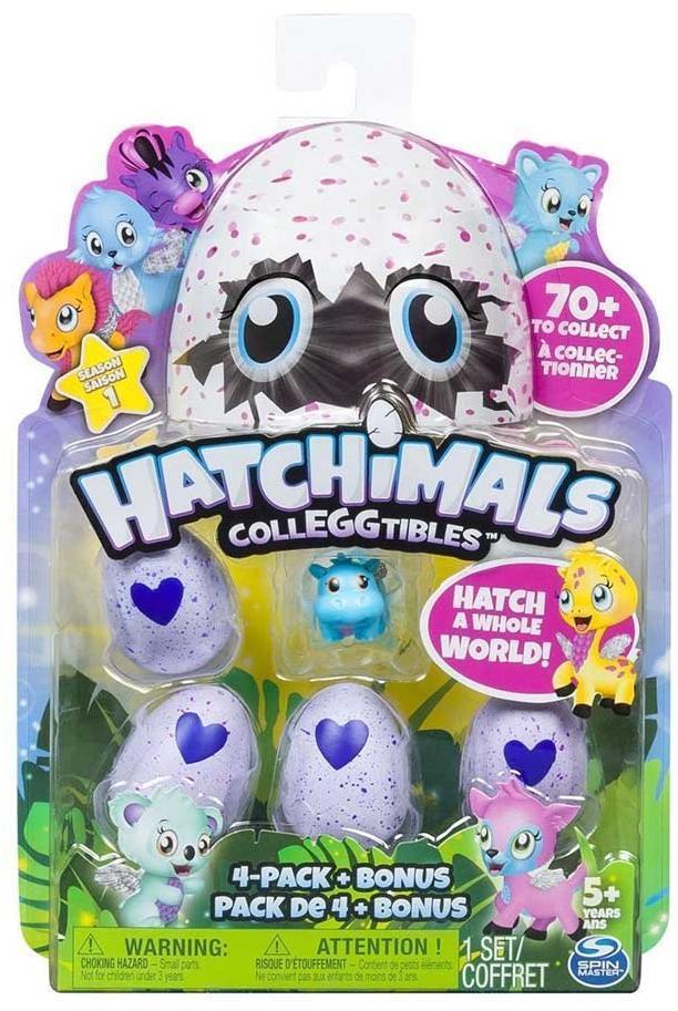 Игрушка Hatchimals коллекционная фигурка 4 штуки+бонус, в асс-те
