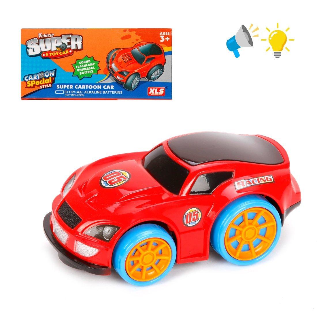 Машина эл., 3D свет, звук, 13 см, эл.пит.3*AA не вх.в компл., в ассортименте