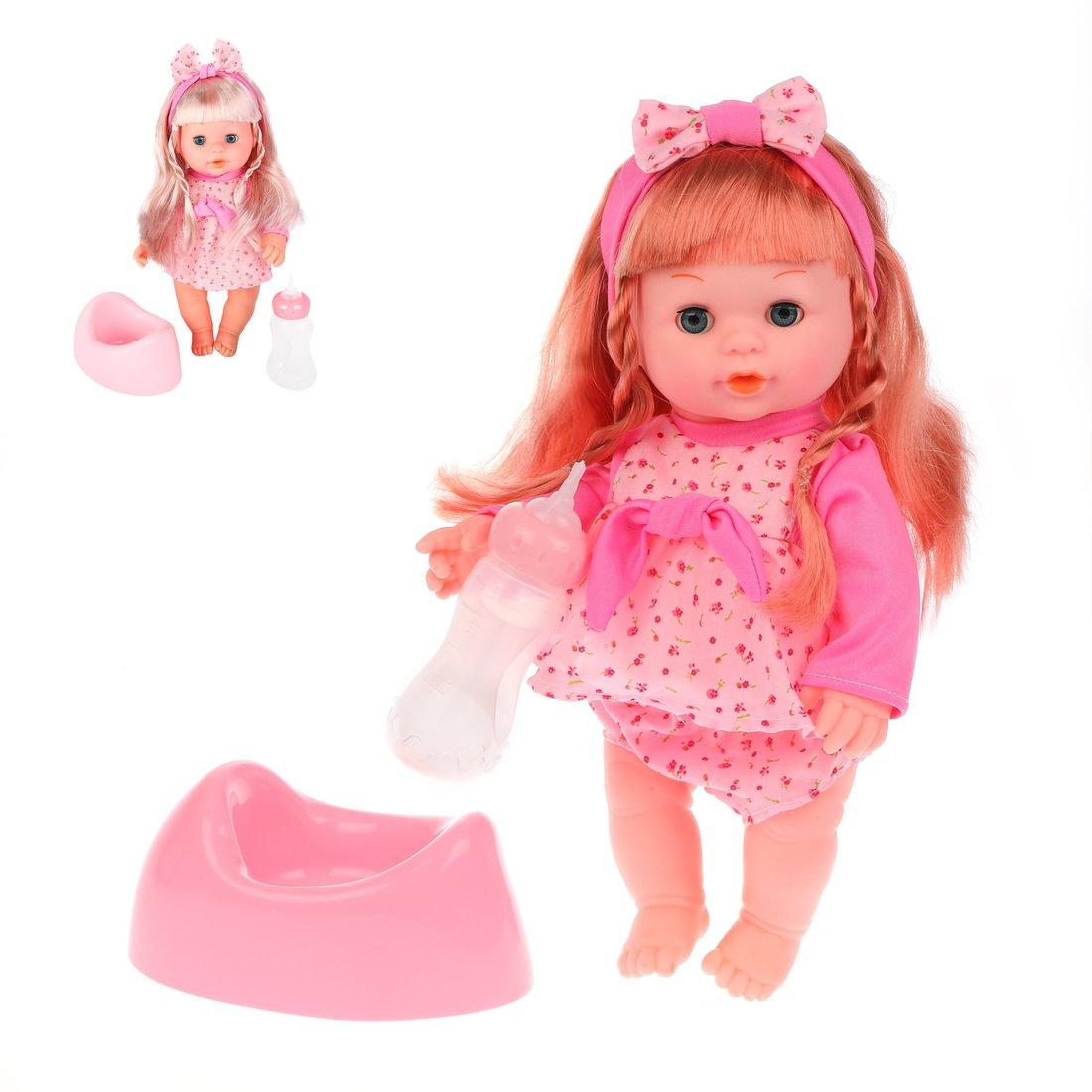 Кукла Мими 35 см пьет, писает, озвуч., в ассорт., 2 аксесс.в компл., кор.
