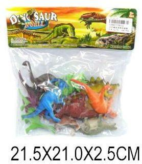 Набор динозавров Dinosaur world, 10-12см, 12шт.