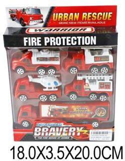 Машина ин., набор Пожарные