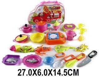 Набор посуды и продуктов 24 предм., пакет.