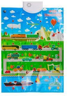 Плакат Виды транспорта двухсторонний, 3 режима игры, регулир.громкости, батар.не вх.в компл., пакет.