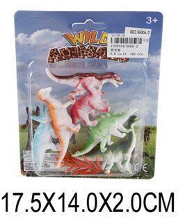 Набор фигурок Динозавры, 6шт., аксессуары, блистер