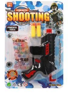 Игр.набор Военный, пистолет, гелевые пули, м/пуль 2шт., блистер