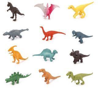 Набор фигурок Динозавры, 5 см, 12 шт., аксессуары, пакет