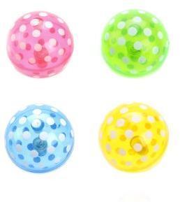 Мяч прыгун Горошек, 7,5см, свет, в ассортименте, дисплей
