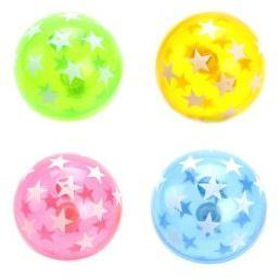 Мяч прыгун Звездочки, 7,5см, свет, в ассортименте, дисплей