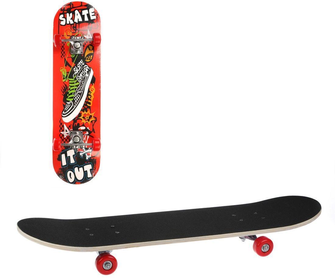 Скейтборд 80х20 см, PVC колеса