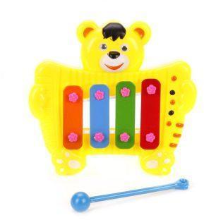 Ксилофон Медвежонок 4 тона, в ассорт., пакет