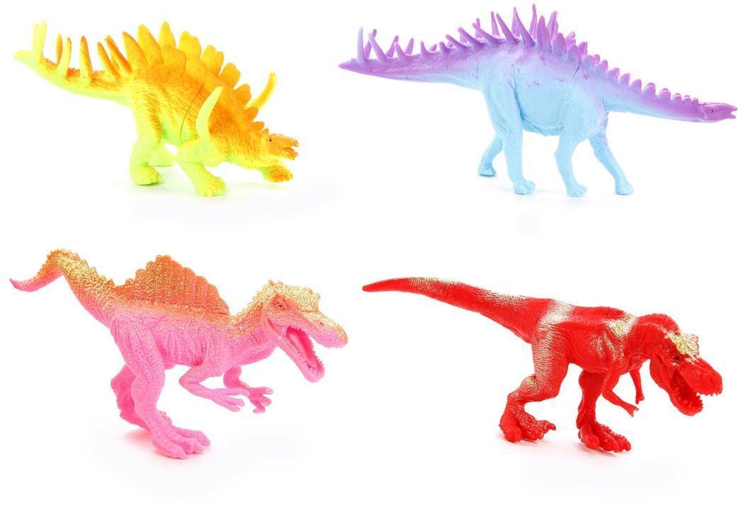 Набор фигурок Динозаврики, 4 шт., пакет