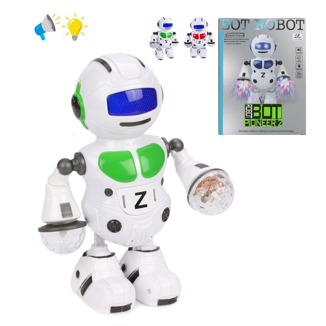 Робот эл., Танцор, свет, звук, в ассортименте