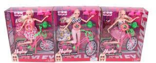 Кукла 29см Летние прогулки с велосипедом, аксес. 3предм., кор.