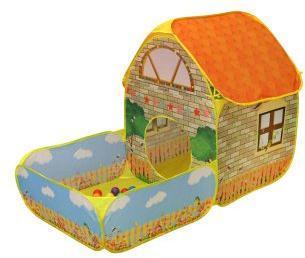Комплекс игровой Загородный дом, палатка с манежем, в комплекте пластмассовые шарики 20 шт., 158*95*110см, коробка