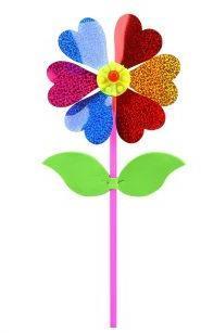 Вертушка Цветочек с липестками 35 см, голограмма