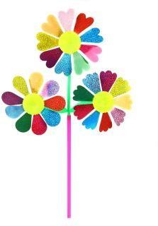 Вертушка Цветы 3 в 1, 57 см, голограмма