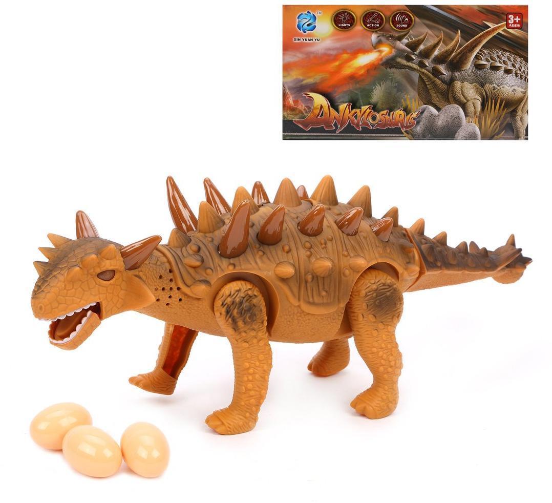 Динозавр эл., свет, звук, отклад.яйцо 3шт., эл.пит.АА*3шт.не вх.в комплект