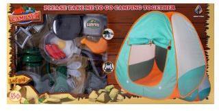 Игровой набор эл. Турист, в комплекте: палатка, лопатка, складной нож, продукты питания 3 предмета, посуда 4 предмета, примус, лампа эл., эл.пит.AG13*3 шт., AA*2 шт. не вх.в комплект, коробка