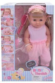 Кукла Weitai в роз.брючках 39 см, звук, пьет, писает, в компл. 9 предм., бат.AG13*3шт. вх. в комп., кор.